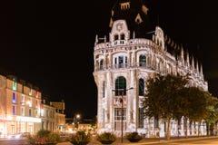 Οικοδόμηση του ελαφριού φεστιβάλ Chartres προσόψεων στοκ εικόνα