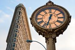 οικοδόμηση του επίπεδου σιδήρου Μανχάτταν Νέα Υόρκη πόλεων στοκ φωτογραφία με δικαίωμα ελεύθερης χρήσης