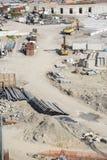 Οικοδόμηση του εργοτάξιου οικοδομής στην Ιταλία Στοκ Εικόνες