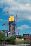οικοδόμηση του ουρανού  Στοκ Εικόνα