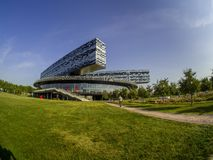 Οικοδόμηση του σχολείου της Μόσχας της διαχείρισης SKOLKOVO Στοκ Εικόνα