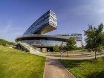 Οικοδόμηση του σχολείου της Μόσχας της διαχείρισης SKOLKOVO Στοκ εικόνα με δικαίωμα ελεύθερης χρήσης