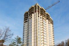 Οικοδόμηση του multi-storey κατοικημένου κτηρίου Στοκ Εικόνα