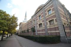 Οικοδόμηση των βασιλικών σταύλων του βασιλιά Willem-Αλέξανδρος στη Χάγη, οι Κάτω Χώρες στοκ εικόνες