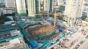 Οικοδόμηση των ουρανοξυστών στην Κίνα απόθεμα βίντεο