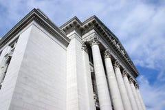 οικοδόμηση των στηλών Wisconsin capitol Στοκ Εικόνες