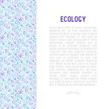 Οικολογία και πράσινη ενεργειακή έννοια απεικόνιση αποθεμάτων