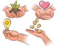 Οικολογία, οικονομία, υγεία. απεικόνιση αποθεμάτων