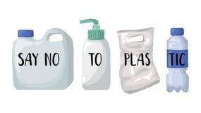 Οικολογική έννοια - πλαστικό απεικόνιση αποθεμάτων