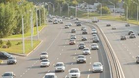 Οικολογική έννοια προβλημάτων Οδική κυκλοφορία στη μεγάλη πόλη φιλμ μικρού μήκους