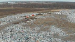 Οικολογική καταστροφή, με τη μεγάλη απόρριψη των οικιακών απορριμάτων απόθεμα βίντεο