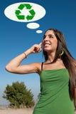 οικολογική σκέψη στοκ φωτογραφία με δικαίωμα ελεύθερης χρήσης