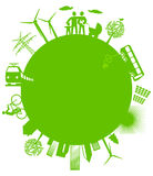 οικολογικός κόσμος Στοκ εικόνες με δικαίωμα ελεύθερης χρήσης