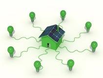 οικολογικό σπίτι διανυσματική απεικόνιση