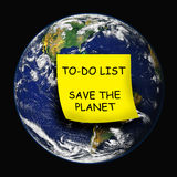 οικολόγος γήινου περιβάλλοντος που πηγαίνει πράσινος Στοκ φωτογραφία με δικαίωμα ελεύθερης χρήσης