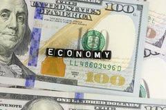 Οικονομία ΑΜΕΡΙΚΑΝΙΚΗΣ λέξης Στοκ εικόνα με δικαίωμα ελεύθερης χρήσης
