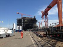 Οικονομία εξαγωγής πετρελαίου και βιομηχανίας φυσικού αερίου Στοκ Εικόνα