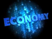 Οικονομία στο σκοτεινό ψηφιακό υπόβαθρο. Στοκ εικόνα με δικαίωμα ελεύθερης χρήσης