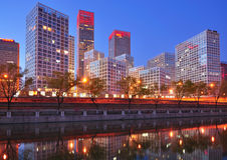Οικονομικά κέντρα πόλεων της Κίνας Πεκίνο CBD Στοκ φωτογραφία με δικαίωμα ελεύθερης χρήσης