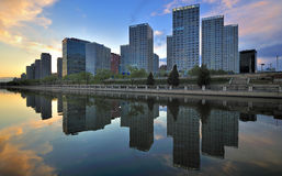 Οικονομικά κέντρα πόλεων της Κίνας Πεκίνο CBD Στοκ φωτογραφίες με δικαίωμα ελεύθερης χρήσης