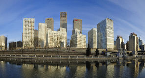 Οικονομικά κέντρα πόλεων cBD-Πεκίνο Στοκ Φωτογραφία