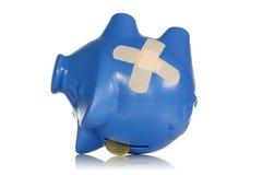 Οικονομικές απώλειες ή έννοια υποχώρησης Στοκ Φωτογραφία
