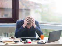 Οικονομικές απώλειες κρίσης προβλήματος επιχειρησιακής αποτυχίας Στοκ φωτογραφία με δικαίωμα ελεύθερης χρήσης