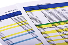 οικονομικές εκθέσεις Στοκ Εικόνες