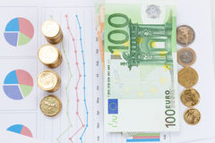 Οικονομικές και επιχειρησιακές διάγραμμα και γραφικές παραστάσεις Στοκ Εικόνες