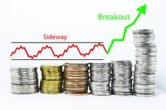 Οικονομική έννοια αύξησης χρημάτων επιτυχίας Στοκ εικόνα με δικαίωμα ελεύθερης χρήσης