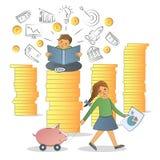 Οικονομική έννοια βασικής εκπαίδευσης Στοκ Φωτογραφία