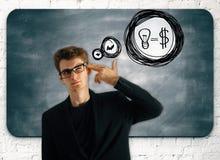 Οικονομική έννοια εισοδηματικών ιδεών Στοκ Εικόνα