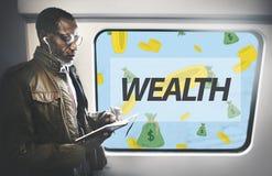 Οικονομική έννοια Ταμείων λογιστικής χρηματοδότησης πλούτου Στοκ Φωτογραφία