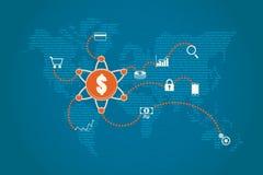 Οικονομική έννοια τεχνολογίας και εμπορικής επένδυσης Στοκ φωτογραφία με δικαίωμα ελεύθερης χρήσης