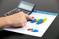 Οικονομική ανάλυση γραφικών παραστάσεων Στοκ Εικόνες