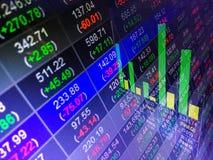 Οικονομική ανταλλαγή χρηματιστηρίου, backgro έννοιας επιχειρησιακών εκθέσεων στοκ εικόνες