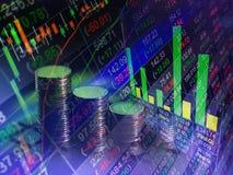 Οικονομική ανταλλαγή χρηματιστηρίου, backgro έννοιας επιχειρησιακών εκθέσεων στοκ φωτογραφία