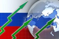 Οικονομική αύξηση της Ρωσίας - απεικόνιση υποβάθρου ειδήσεων Στοκ φωτογραφίες με δικαίωμα ελεύθερης χρήσης