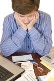 Οικονομική 2$α αναθεώρηση ανησυχιών στοκ εικόνες