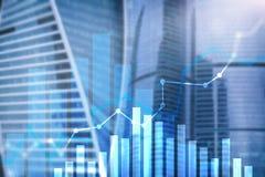 Οικονομική γραφική παράσταση αύξησης Αύξηση πωλήσεων, έννοια εμπορικής στρατηγικής Στοκ εικόνα με δικαίωμα ελεύθερης χρήσης