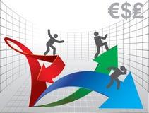 οικονομική γραφική παράστ διανυσματική απεικόνιση