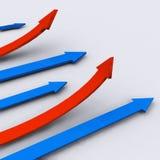οικονομική γραφική παράσ&tau Στοκ εικόνες με δικαίωμα ελεύθερης χρήσης