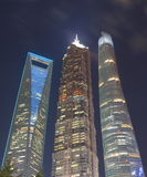 Οικονομική εικονική παράσταση πόλης Κίνα περιοχής της Σαγκάη Pudong Στοκ φωτογραφία με δικαίωμα ελεύθερης χρήσης