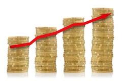 οικονομική επιτυχία έννοιας Στοκ Εικόνες
