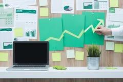 Οικονομική επιτυχία και πράσινη επιχείρηση Στοκ εικόνες με δικαίωμα ελεύθερης χρήσης