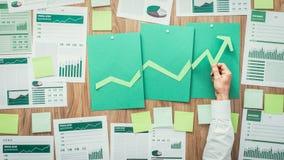 Οικονομική επιτυχία και πράσινη επιχείρηση Στοκ Εικόνα