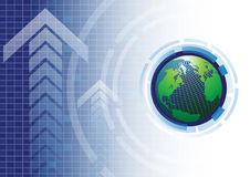 Οικονομική επιτυχία τεχνολογίας Στοκ Εικόνες
