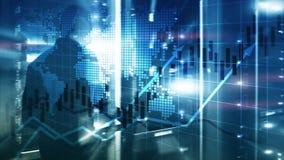 Οικονομική επιχειρησιακή έννοια απόδοσης της επένδυσης διαγραμμάτων ROI κεριών γραφικών παραστάσεων χρηματιστηρίου στοκ εικόνες