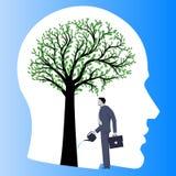 Οικονομική επιχειρησιακή έννοια συμβούλων σκέψης διανυσματική απεικόνιση