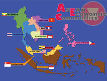 Οικονομική κοινότητα της ASEAN, AEC Στοκ Εικόνες